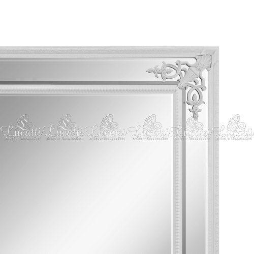 Espelho c/ Moldura Em Resina Branca