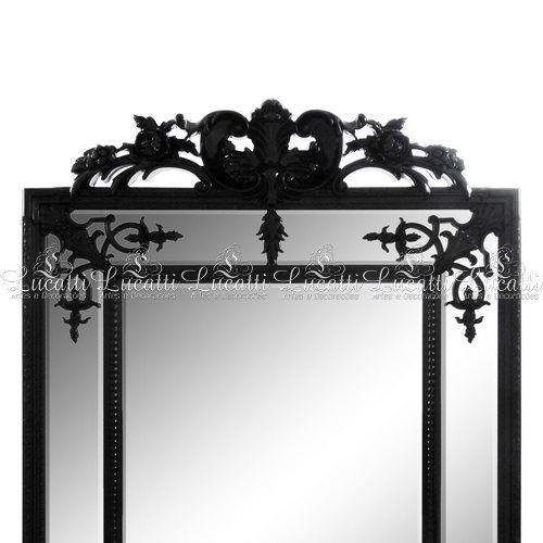Espelho c/ Moldura Em Resina Preta