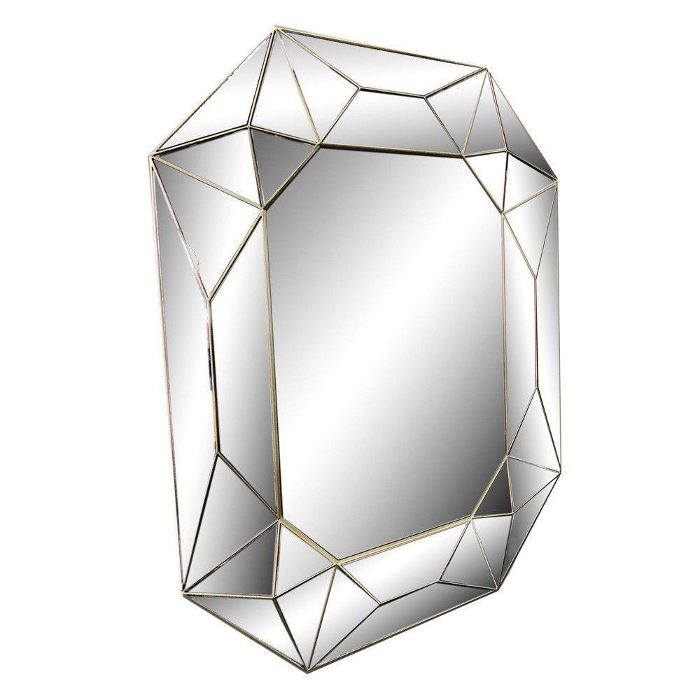 ESPELHO DECORATIVO PRATA DIAMOND 0,61x0,50CM