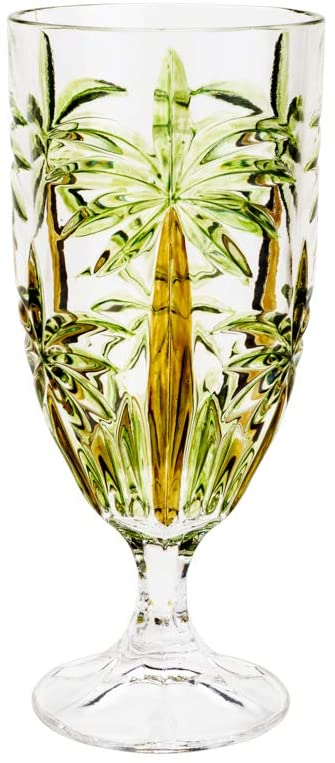 TAÇA CRISTAL PALM TREE HANDPAINT 450ML (UND).
