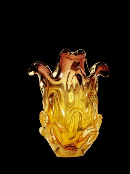 Vaso Lilás com Âmbar Murano 20 cm