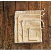 Kit de Sacos para Granel - 100% Algodão - 4 Uni - SALVIA