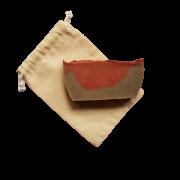 Sabonete Facial Natural - Argila Vermelha, Argila Verde e Palmarosa - Divina Fulô