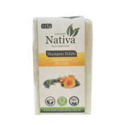 Shampoo Sólido Natural - Calêndula e Alecrim Rosmarinus - Nativa Eco-Cosmética