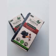 Shampoo Sólido Natural - Carvão Ativado e Breu Branco - Nativa Eco-Cosmética