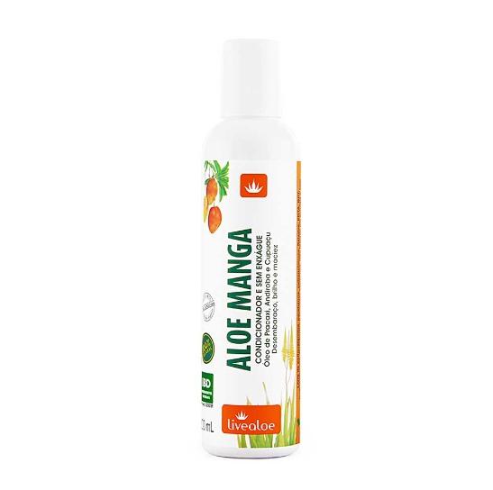 Condicionador e Creme Sem Enxágue Líquido Natural - Aloe Manga - Livealoe