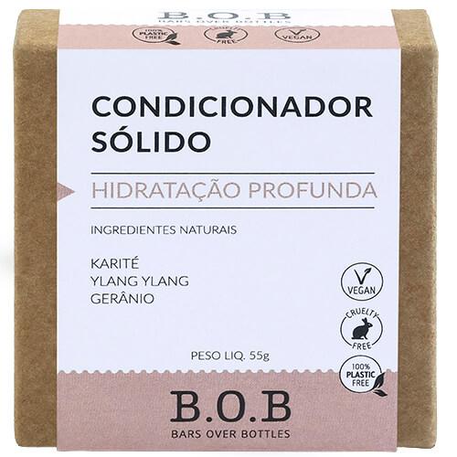Condicionador em Barra Natural - Hidratação Profunda - B.O.B