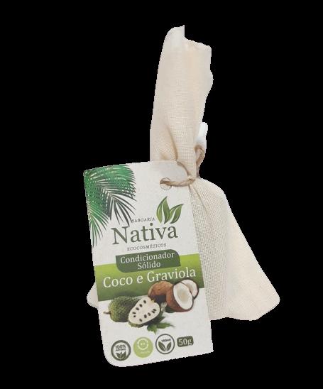Condicionador Sólido Natural - Graviola e Coco - Nativa Eco-Cosmética  - SALVIA
