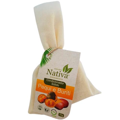 Condicionador Sólido Natural - Pequi e Buriti - Nativa Eco-Cosméticos