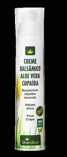 Creme Balsâmico Natural Aloe Vera e Copaíba - Livealoe