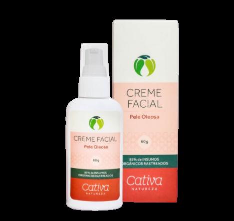 Creme Facial Natural - Pele Oleosa - Cativa Natureza  - SALVIA