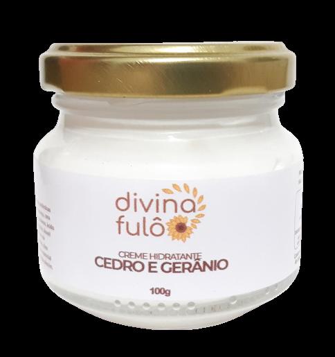 Creme Hidratante Natural - Cedro e Gerânio - Divina Fulô  - SALVIA
