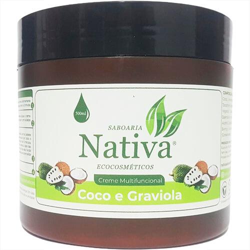 Creme Multifuncional Natural - Coco e Graviola - Nativa Eco-Cosméticos