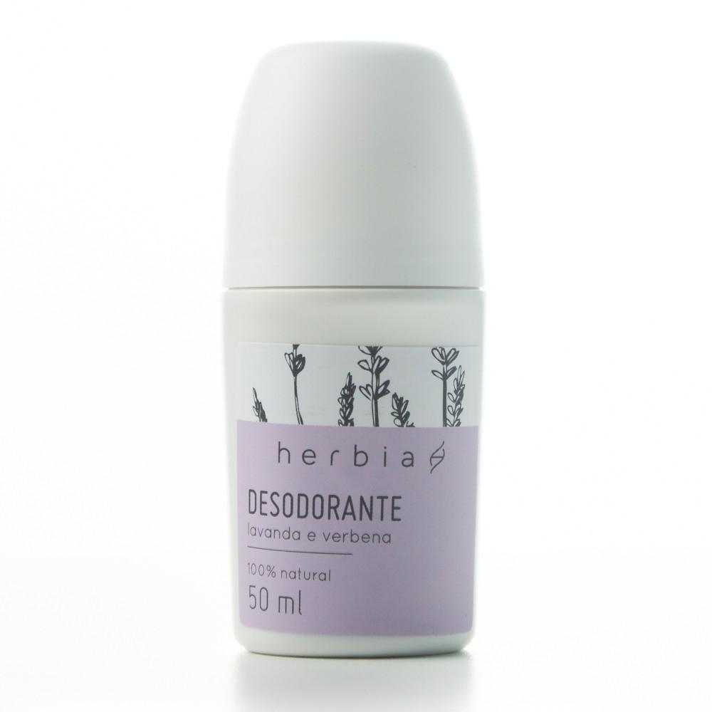 Desodorante Natural Roll-on - Lavanda e Verbena - Herbia