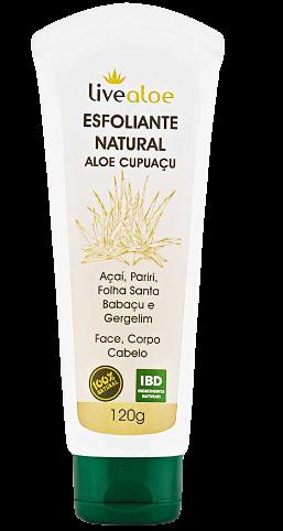 Esfoliante Facial e Corporal Natural - Aloe Cupuaçu - Livealoe