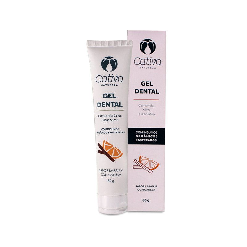 Gel Dental Natural - Laranja com Canela - Cativa Natureza