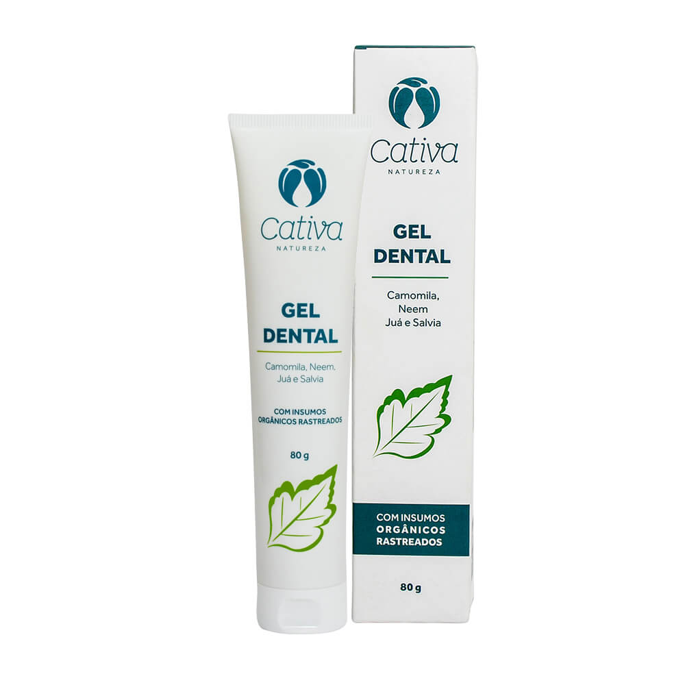 Gel Dental Natural - Menta - Cativa Natureza  - SALVIA