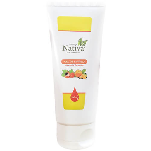 Gel Facial de Limpeza Natural - Guaraná e Tangerina - Nativa Eco-Cosméticos