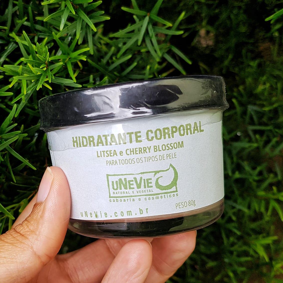 Hidratante Corporal Natural - Litsea Cubeba e Cherry Blossom - uNeVie  - SALVIA