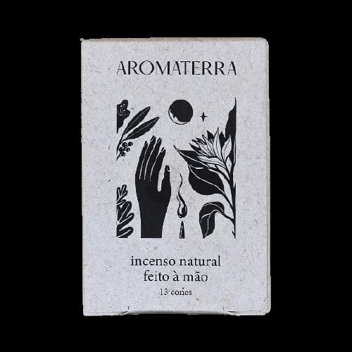 Incenso Natural em Cone - Breu Branco - Aromaterra Botânica