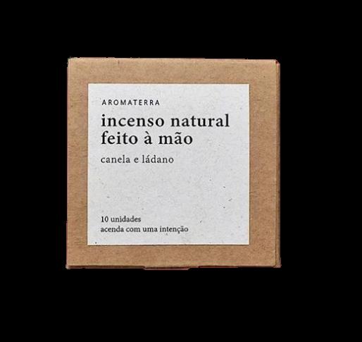 Incenso Natural em Cone - Canela e Ládano - Aromaterra Botânica  - SALVIA