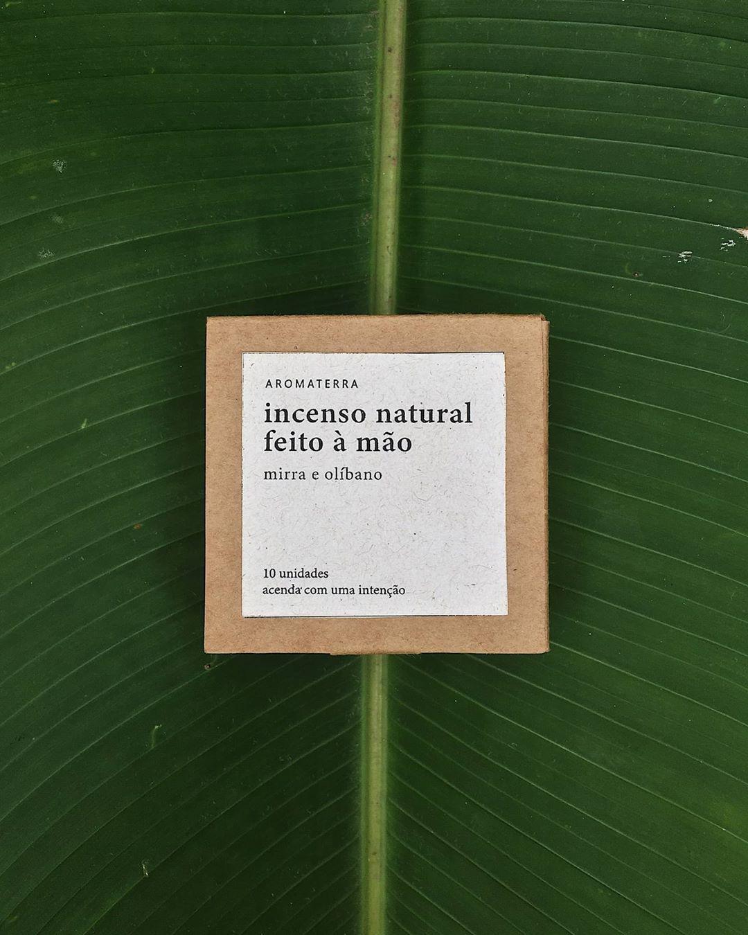 Incenso Natural em Cone - Mirra e Olíbano - Aromaterra Botânica  - SALVIA