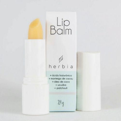 Lip Balm Incolor Natural com Ácido Hialurônico - Herbia