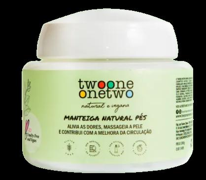Manteiga Hidratante para os Pés Natural - Twoone Onetwo