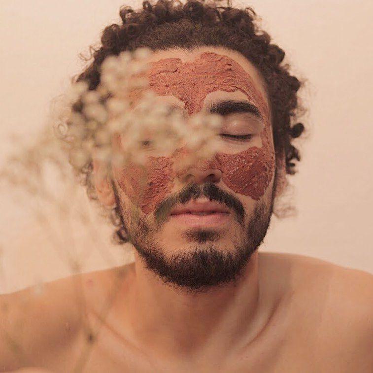Máscara Facial Natural de Argila  - Bougainville - flor & sol  - SALVIA