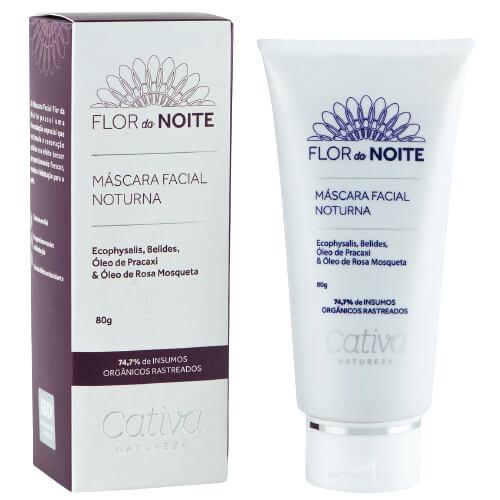 Máscara  Facial Noturna Natural - Flor da Noite - Cativa Natureza