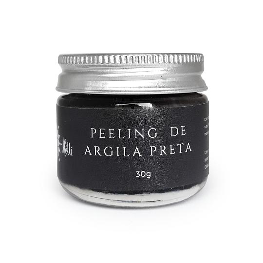 Peeling Natural de Argila Preta - Hélli Cosmetics  - SALVIA