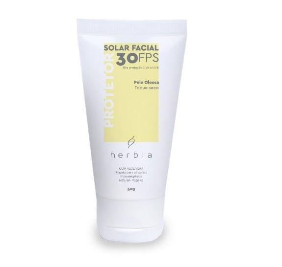Protetor Solar Facial Natural FPS 30 -  Peles Oleosas - Herbia