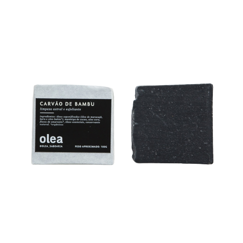 Sabonete Facial e Corporal Natural - Carvão de Bambu - Olea