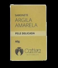 Sabonete Facial Natural - Argila Amarela - Cativa Natureza