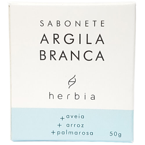 Sabonete Facial Natural - Argila Branca - Herbia