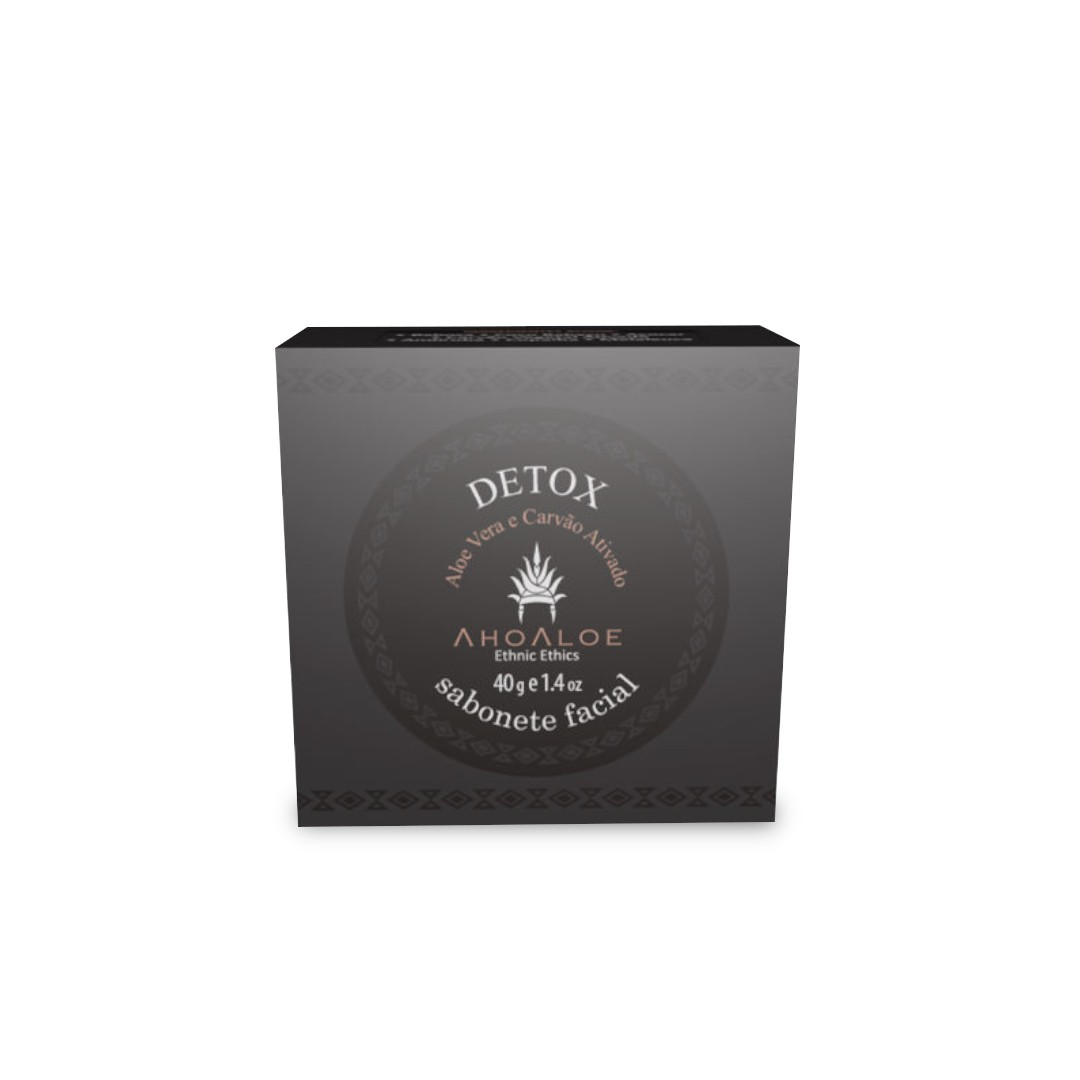 Sabonete Facial Natural - Detox - AhoAloe