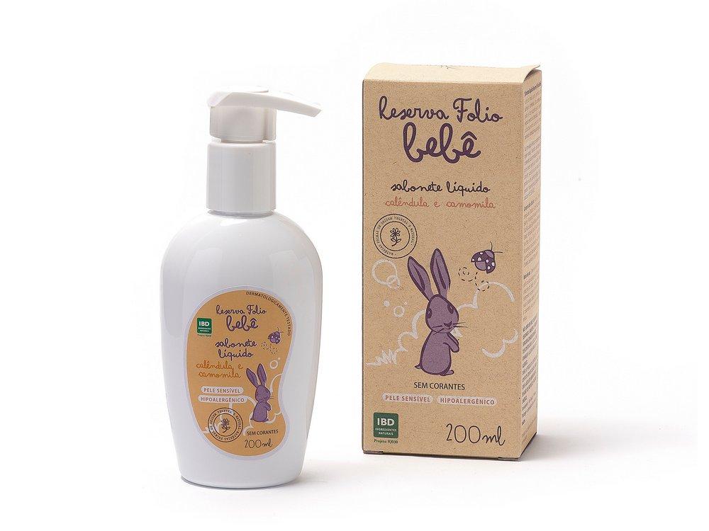 Sabonete Líquido Natural - Calêndula e Camomila - Reserva Folio  - SALVIA