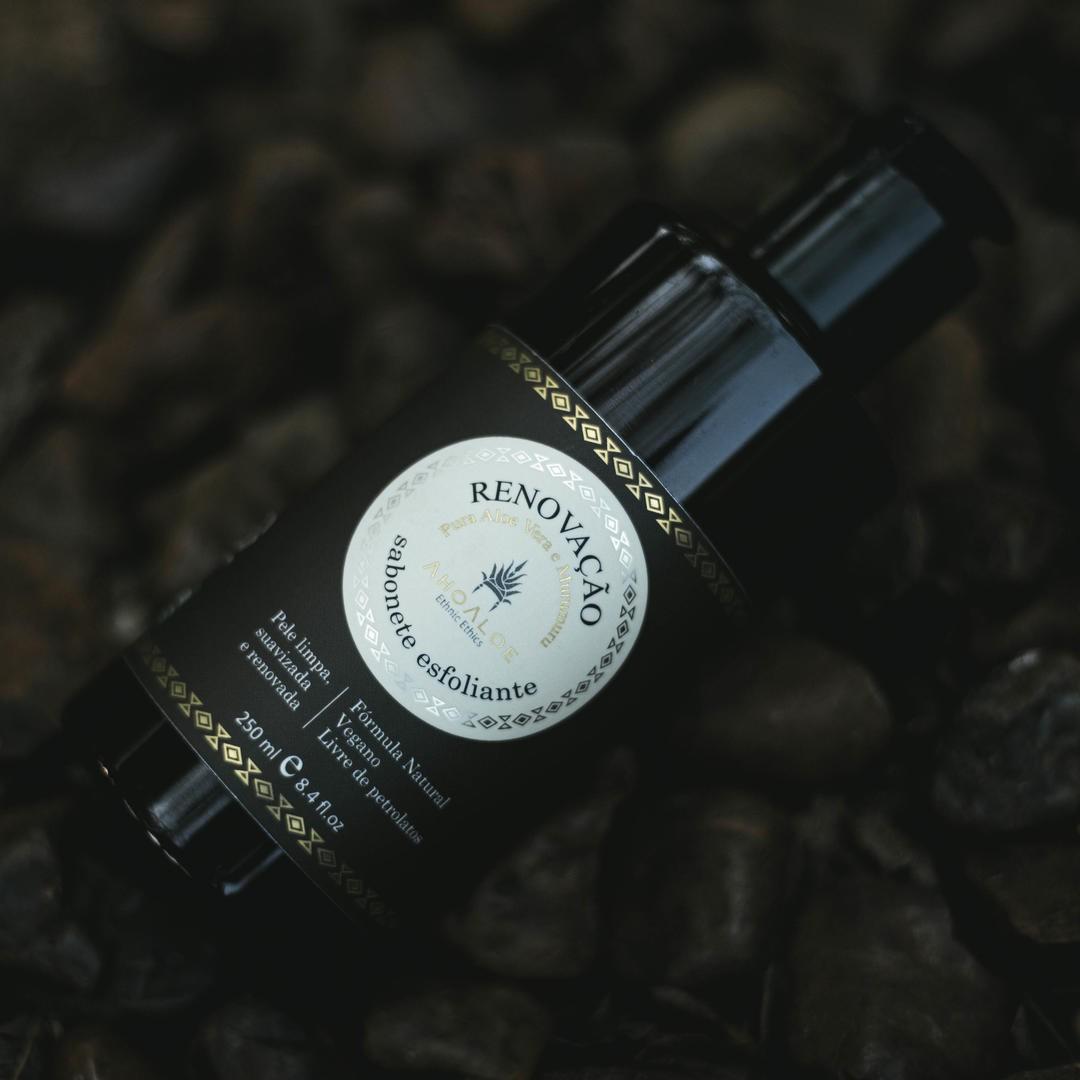 Sabonete Líquido Esfoliante Natural - Renovação - AhoAloe  - SALVIA