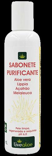 Sabonete Líquido Facial Natural - Purificante - Livealoe