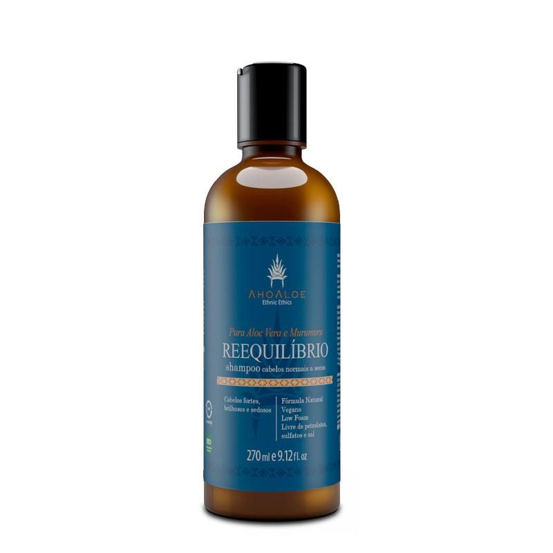 Shampoo Líquido Natural - Reequilíbrio - AhoAloe