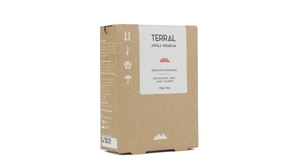 Sabonete Natural - Argila Vermelha e Patchouli - TERRAL  - SALVIA