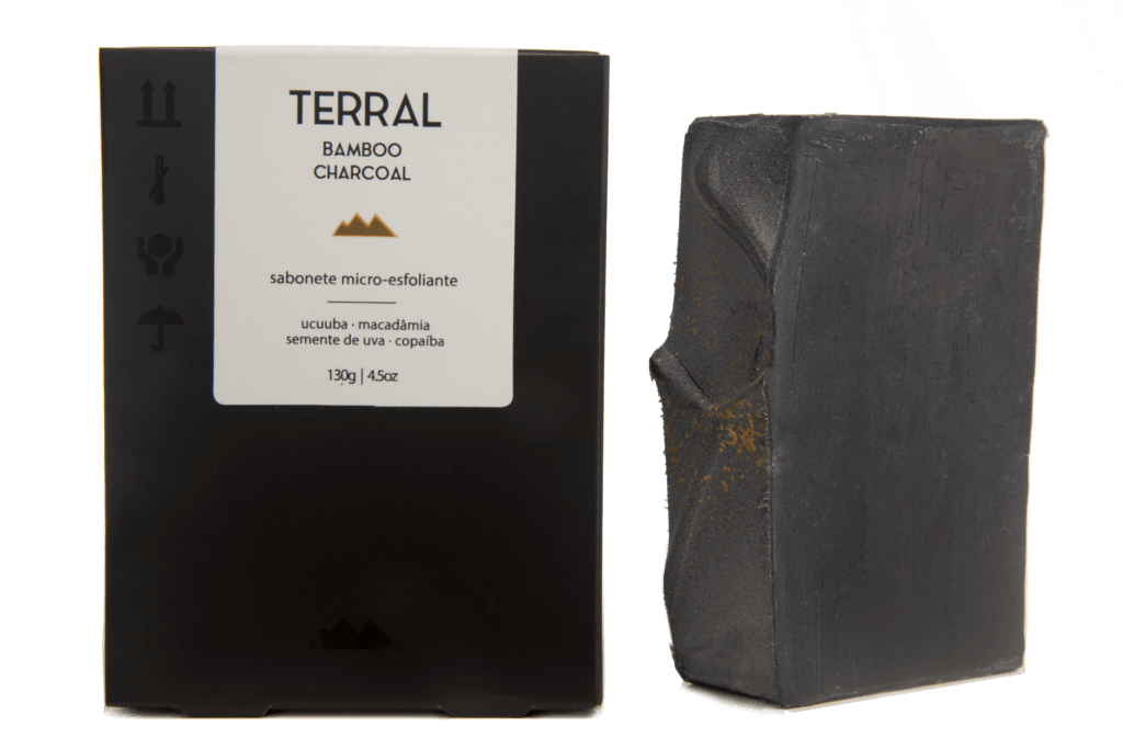 Sabonete Facial e Corporal Natural - Carvão Ativado de Bambu - TERRAL  - SALVIA