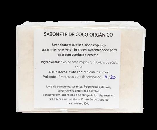 Sabonete Natural - Coco Orgânico -  Floë Natural  - SALVIA