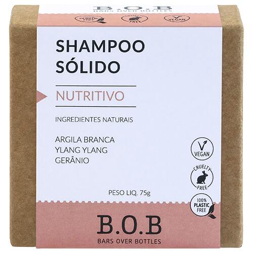 Shampoo em Barra Natural - Nutritivo - B.O.B