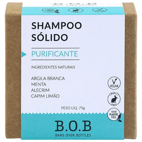 Shampoo em Barra Natural - Purificante - B.O.B