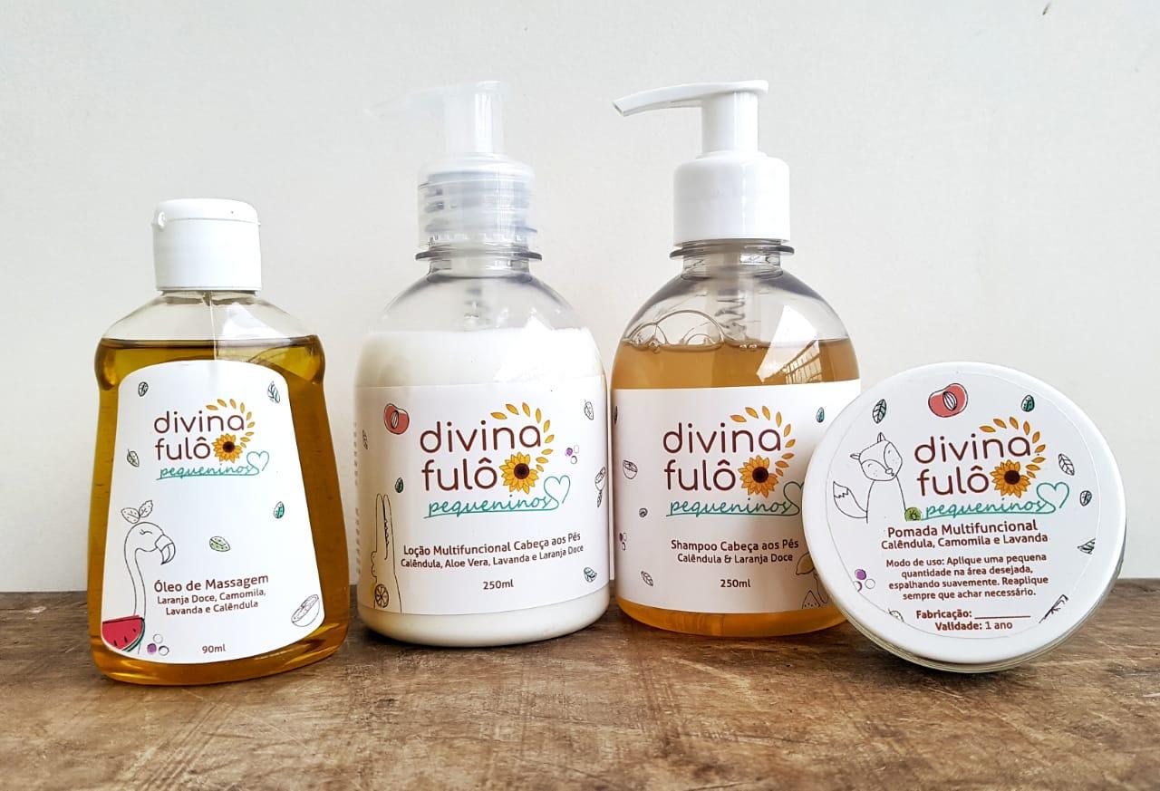 Shampoo Líquido Natural - Pequeninos - Divina Fulô  - SALVIA