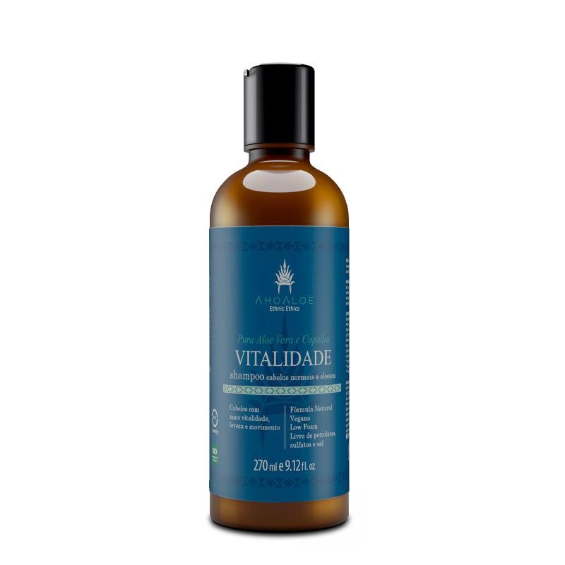 Shampoo Liquido Natural - Vitalidade - AhoAloe   - SALVIA