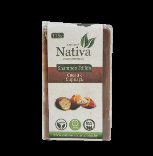 Shampoo Sólido Natural - Cacau e Cupuaçu - Nativa Eco-Cosmética  - SALVIA