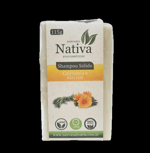Shampoo Sólido Natural - Calêndula e Alecrim -  Nativa Eco-Cosmética  - SALVIA