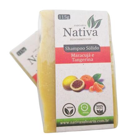 Shampoo Sólido Natural - Maracujá e Tangerina - Nativa Eco-Cosméticos